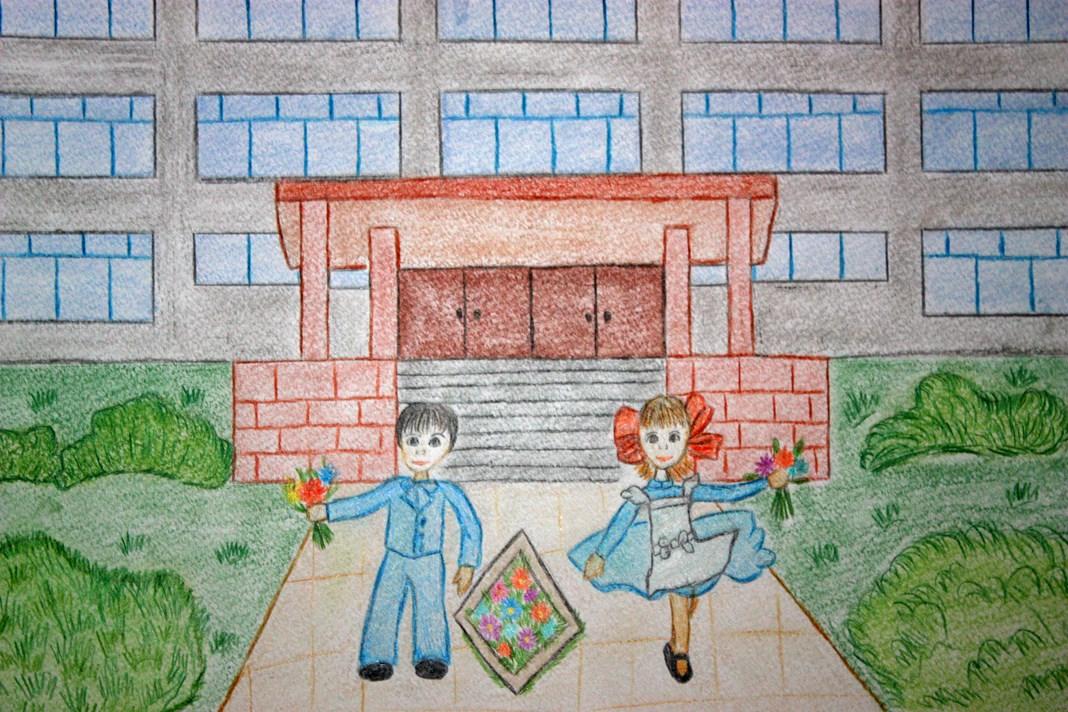 Как рисовать школу с картинками